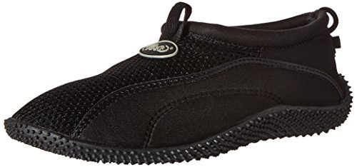 TECS Men's Aquasock Water Shoe, Black, 10 M US