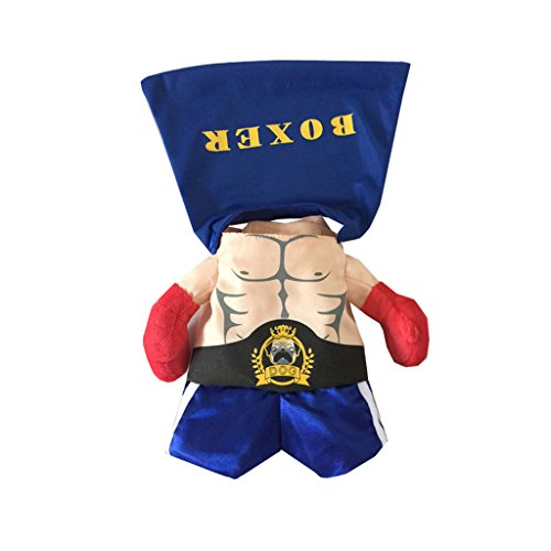 (CLOVER Boxing Champion Role Play Suit Fancy Dog Cat Puppy Costume - Medium)