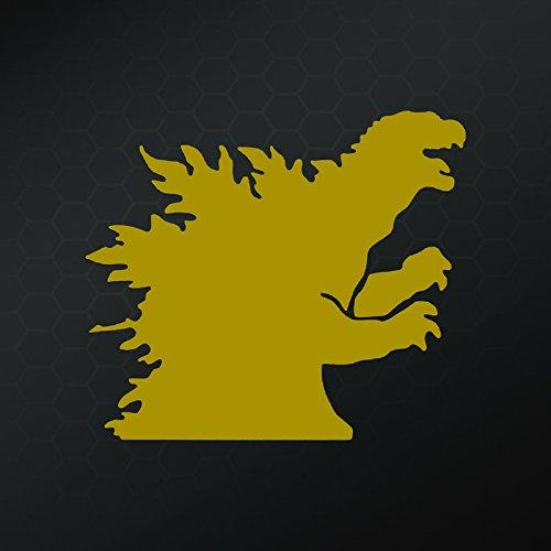 [Godzilla Decal Vinyl Sticker | Cars Trucks Walls Laptop | Gold | 5 X 5 In | KCD410G] (Mothra Costumes)