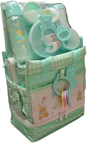 Big Oshi Baby Essentials 16 Piece Newborn Diaper Bag Feeding Gift Set, (Bottle Feeding Preemie)