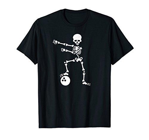 Bowling ball floss like a boss flossing skeleton fun t-shirt -