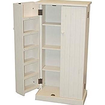 Amazon.com: Solid Wood Large Unfinished Kitchen Pantry ...