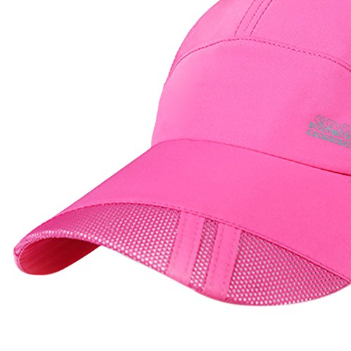 Panegy Unisex Adults Nylon Sun Protection Hat Mesh Cotton Cap for Fishing Hiking Rose Pink by Panegy (Image #2)