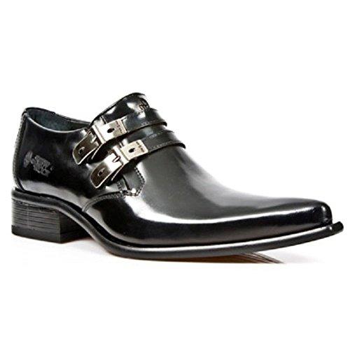 Noir New Hommes Metal Steel Chaussures Patent Newrock s20 Métallique Rock 2246 M Western x4FATFp