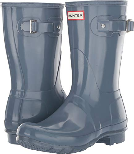 (Hunter Women's Original Short Gloss Rain Boots Gull Grey 6 M US )