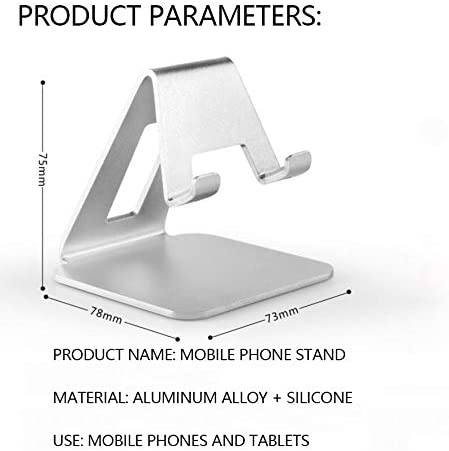 Universal and Portable Desktop Stand for All Smartphones,Pink ZXY Mobile Phone Holder