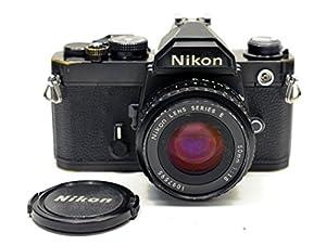 Black Nikon FM SLR film camera; body only, no lens.