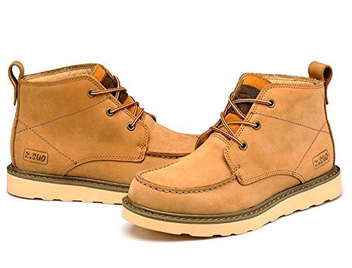 Insun Men's Camel Laces Ankle Leather Boot Shoes 5 Sge6JnX