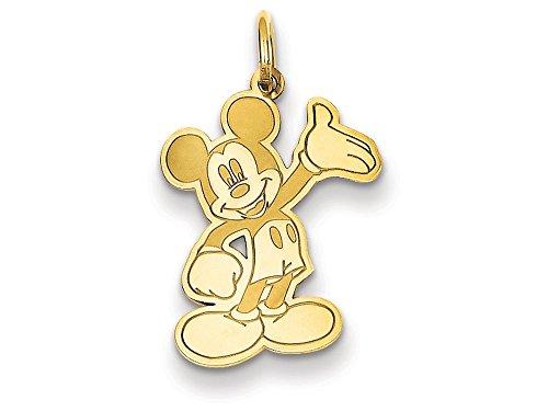 14kt Bracelet Slide Charm (Disney Waving Mickey Charm 14kt)