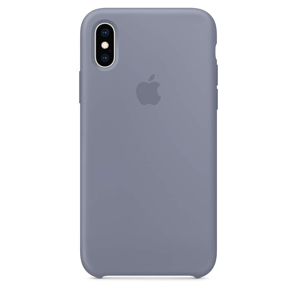 Dawsofl Soft Silicone Case Cover for Apple iPhone Xs Max 2018 (6.5inch) Boxed- Retail Packaging (Lavender Gray)