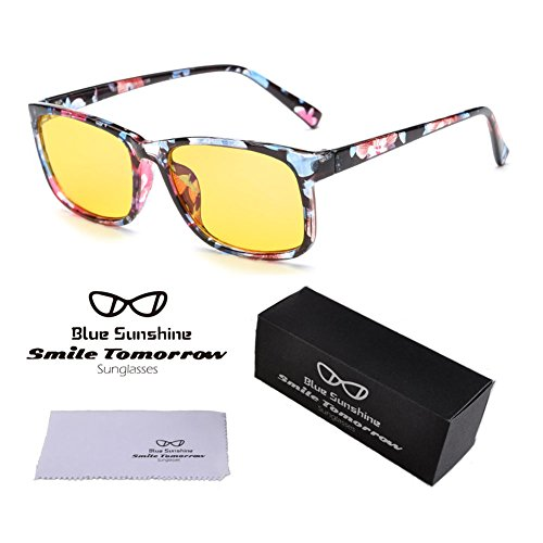 HD Night Driving Glasses Anti Glare Safe Night Vision Sunglasses (Floral, - Can Glasses As Computer Sunglasses Used Be