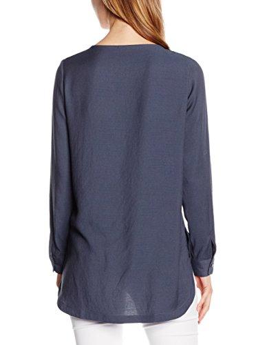Vero Moda Vmriver Ls Long Top, Maglia a Maniche Lunghe para Mujer Azul (Ombre Blue)