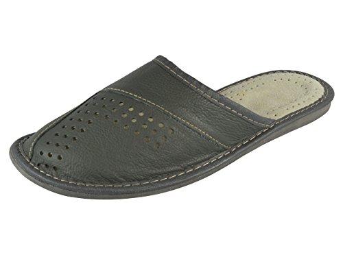 aveego - Zapatillas de estar por casa de Otra Piel para hombre gris