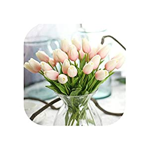 UNstars Artificial Flowers 1Pc Tulips Artificial Flowers Artificiales para Decora Mini Tulip Flowers 104