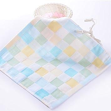 Bonytain - Paños de muselina cuadrados para bebé recién nacido, doble gasa, algodón, toallas pequeñas para bebé, baberos para la cara de alimentación ...