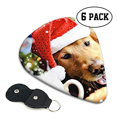 Janeither Celluloid Guitar Picks Cute Pet Dog with Hat Cool Stylish Guitar Accessories 6 Pack for Acoustic, Electric, Original and Bass Guitars