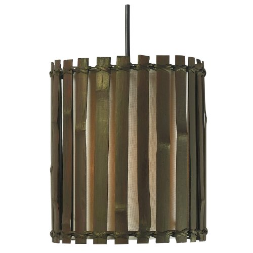 Kenroy Home 92037BRZ  Grove 1-Light Mini Pendant, Blackened Bronze (Split Bamboo Finish)