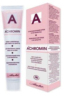 Achromin - Crème blanchissant pour les taches sombres, taches de vieillesse et post-grossesse, taches brunes - 45 ml ALEN MAK