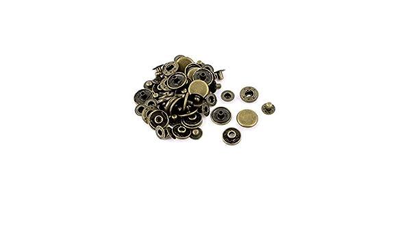 Amazon.com: eDealMax Letras talladas Botón ropa Broche de botón de presión DE 15 mm 15 conjuntos de Canela: Home & Kitchen