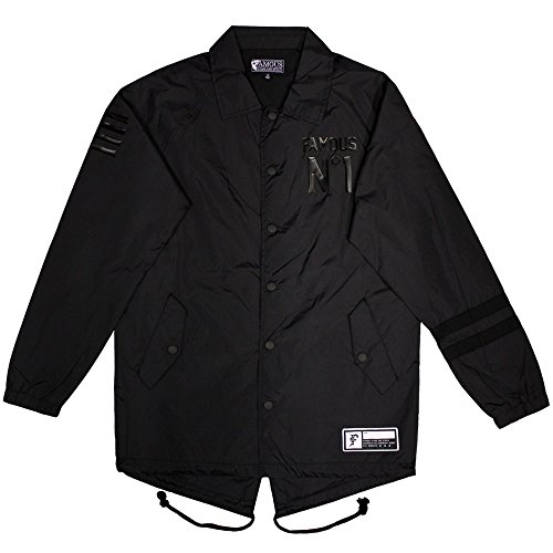 Famous Stars & Straps Public Enemy Coaches Jacket Black by Famous Stars and Straps