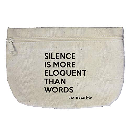 Silence Is More Eloquent Than Words (Thomas Carlyle) Cotton Canvas Makeup Bag