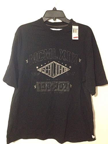 (Sean John Short Sleeve T-Shirt Royal Crown Black 3XL)
