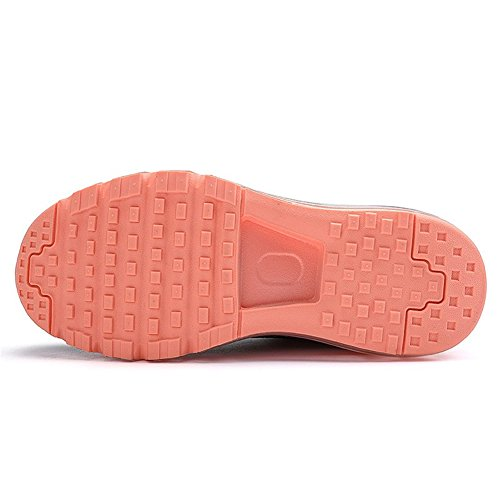 Laufschuhe Sportschuhe Sneakers Leichte BETY Luftpolster und Profilsohle Herren Orange Schuhe Turnschuhe Damen mit Schwarz 4qWgHA6