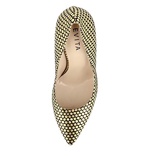 Alina Couleur Or Femme Escarpins Shoes Daim Evita pxw1n5qCS0