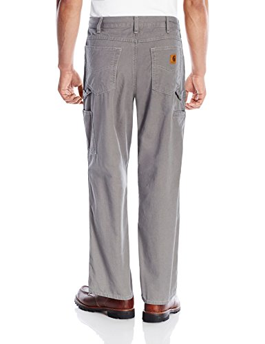 Carhartt Men's Loose Fit Five Pocket Canvas Cleaning Pant-Sky Gray, back