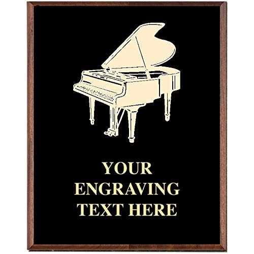 (Piano Plaques, Custom Engraved Music Piano Recital Trophy Plaque Award, Great Customizable Pianist Awards Prime)