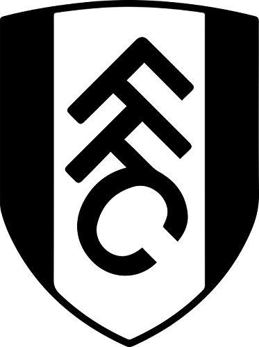 FC WEST London, England FC Fulham (Black) (Set of 2) Premium Waterproof Vinyl Decal Stickers for Laptop Phone Accessory Helmet Car Window Bumper Mug Tuber Cup Door Wall Decoration