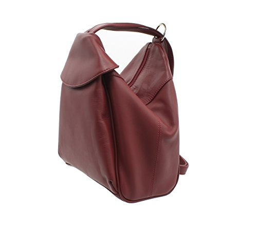 Rouge Cuir Style en Dos Marron Visconti 01721 Sac à qwagT