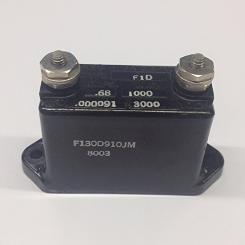 F130D910JM High Voltage Mica Capacitor .000091MFD 3000 Volt .68 Amp (1 piece) (3000v Voltage Capacitor High)