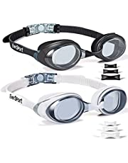 EverSport Swim Goggles 2 Pack Swimming Goggles Anti Fog Anti-UV for Teens Youth Adult