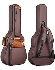 """Funda de Guitarras Universal CAHAYA, Acolchada 8mm para Guitarras Acústica y Clásica Bolsa de Guitarras de 40"""", 41"""" y 42"""" (Color Marrón)"""