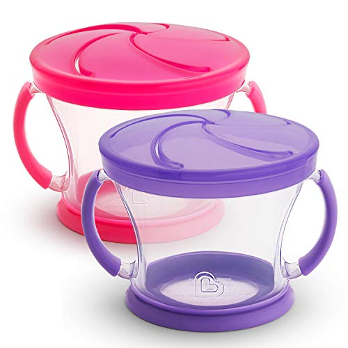 Munchkin Snack Catcher 2 Piece, Pink/Purple