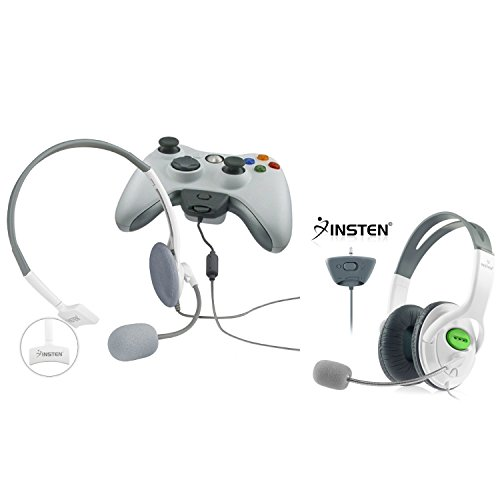 Insten 2 Pack Gaming Chat Live Headset With Microphone Compatible With XBOX 360 / Xbox 360 Slim Wireless Controller M from INSTEN