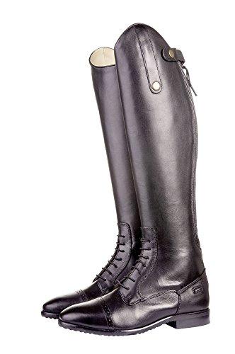 HKM–Botas de equitación Valencia estándar de largo/ancho Negro - negro