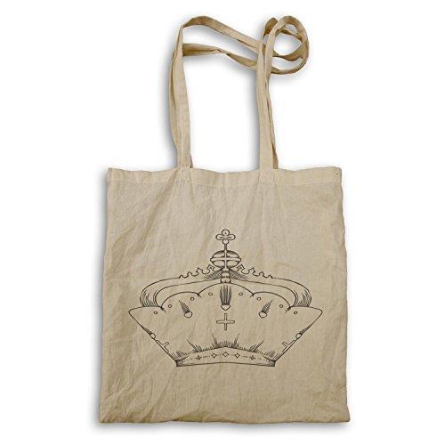 Krone König Queen Art lustige Neuheit Tragetasche a574r