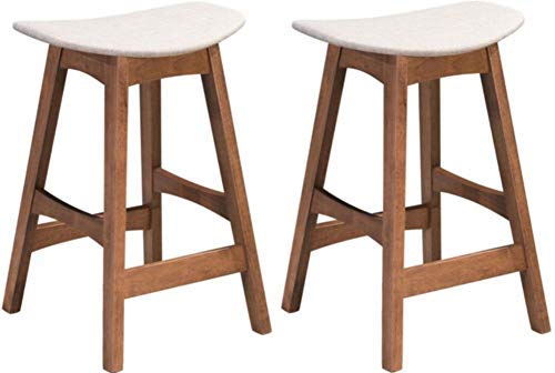 Zuo Modern 100956 Allen Counter Stool Chairs, Dove Gray, 18.7