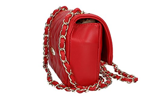 Shoulder Vn1528 Red Made In Italy Leather Cardin Pierre Bag Woman qxIwczPd4q