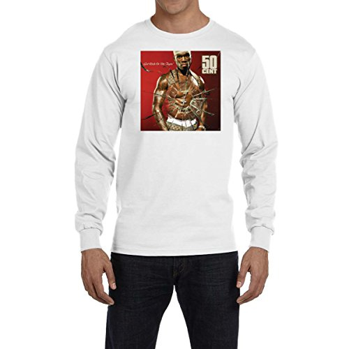 50 Cent Get Rich Or Die Tryin Long Sleeve T Shirt Hip Hop Music G Unit Power Wht (XL)