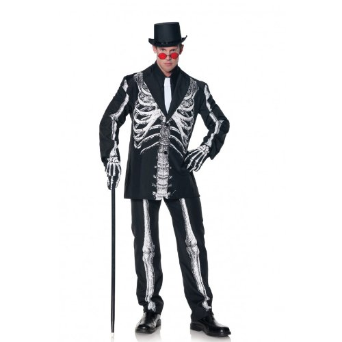 Bone Daddy Costume,Black,White,Standard