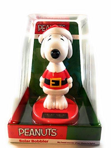 Peanuts Snoopy Christmas Solar Bobbler ()