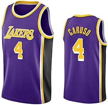uSport Alex Caruso - Los Angeles Lakers #4 Camiseta de Baloncesto ...