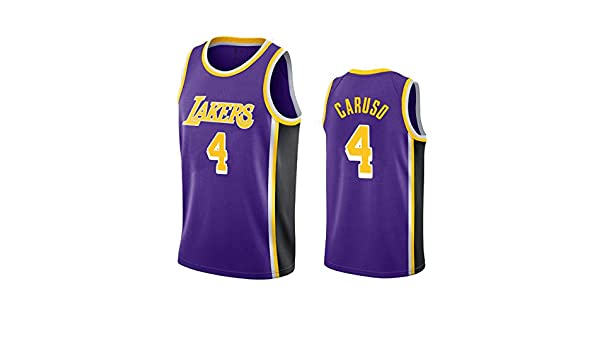 Swingman Unisex Sportswear Sleeveless T-Shirt Los Angeles Lakers #4 Camiseta de Baloncesto para Hombres uSport Alex Caruso
