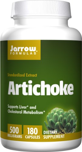 Jarrow Formulas Artichoke 500, Supports Liver and  Cholesterol Metabolism, 500 mg, 180 Caps (Cynara Artichoke)