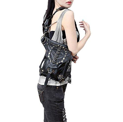 Steam punk retro messenger bag tasche Skull
