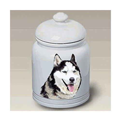 Best of Breed Siberian Husky (Black and White): Ceramic Treat Jar 10
