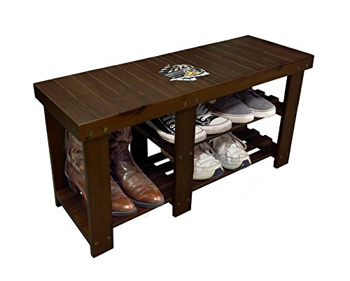 New Espresso / Cappuccino Finish Storage Bench featuring your choice of Themed logo! by The Furniture Cove